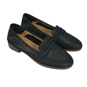 Lucky Brand Black Leather Penny Loafers (8.5)